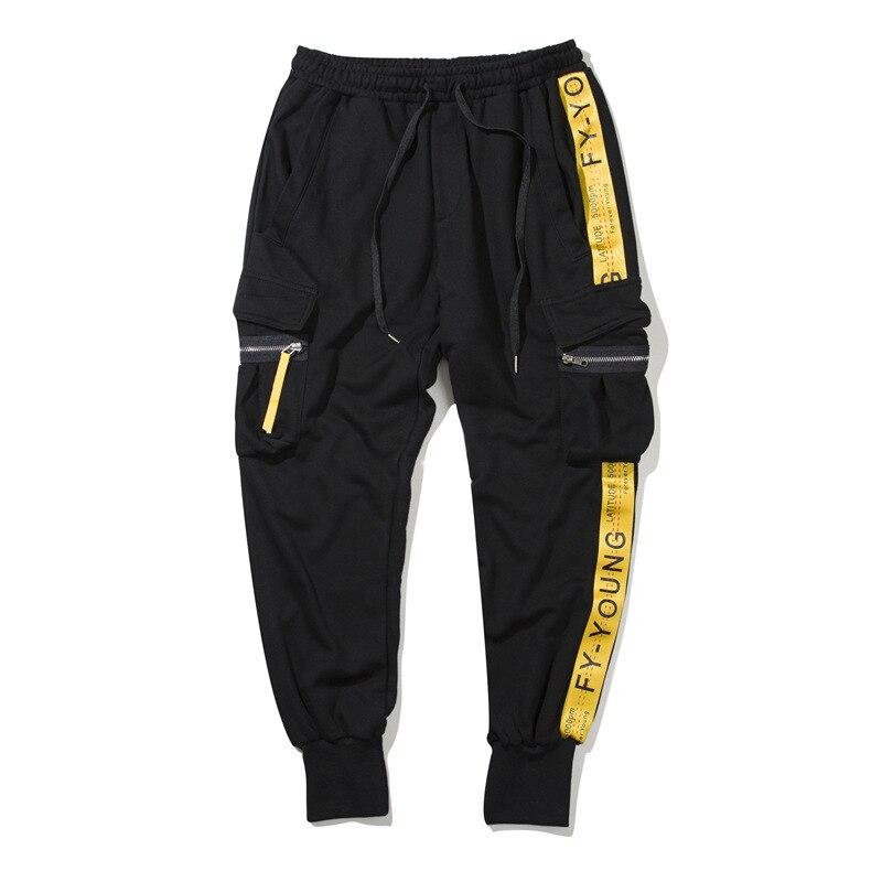 2019 New Arrival Fear God Appliques Full Length Loose Terry Cotton Capri Men Pants Ins Super Off W Pantalon Homme Elastic Waist