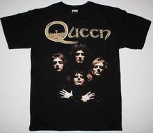 QUEEN II BOHEMIAN RHAPSODY FREDDIE MERCURY BRIAN MAY ROCK NEW RARE BLACK T-SHIRT Print T Shirt Men Summer Top Tee