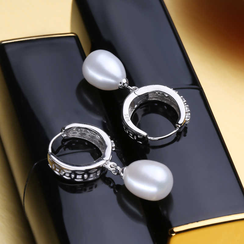 FENASY NEW Pearl Jewelry 925 sterling silver jewelry sets for women real freshwater pearl necklace classic drop earrings