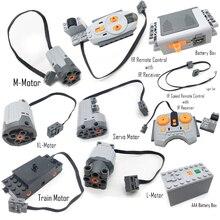 Funzioni di Alimentazione Servo tecnico Interruttore di Polarità Del Motore di Velocità di IR Ricevitore del Telecomando Contenitore di Batteria technic creatore