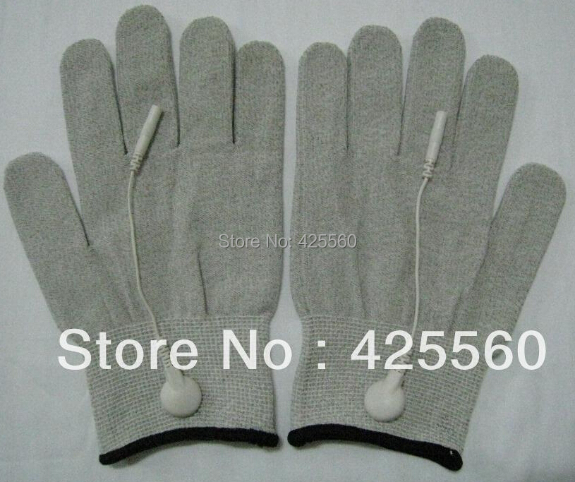 200 Pairs Conductive Electrode Massage TENS Gloves With Short Cables Use For TENS/EMS Machines