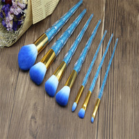 7pcs Sets Cosmetic Brush 7 Crystal Handle Diamond Colorful Make Up Sets New Unicorn Beauty Tools
