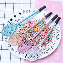 Mini plastic grid pen mesh mud with slime mini ball racquet badminton racket DIY manual toys antistress slime charm(China)