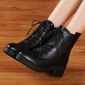 2016 nuevo otoño y el invierno botas de Inglaterra Martin botas zapatos de las mujeres gruesas con botas de nieve de las mujeres botas