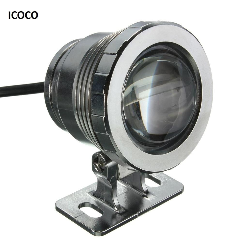 ICOCO مقاوم للماء 10 واط RGB مصباح ليد حديقة نافورة بركة بركة الأضواء السوبر مشرق مصباح تحت الماء مصباح مع جهاز التحكم عن بعد