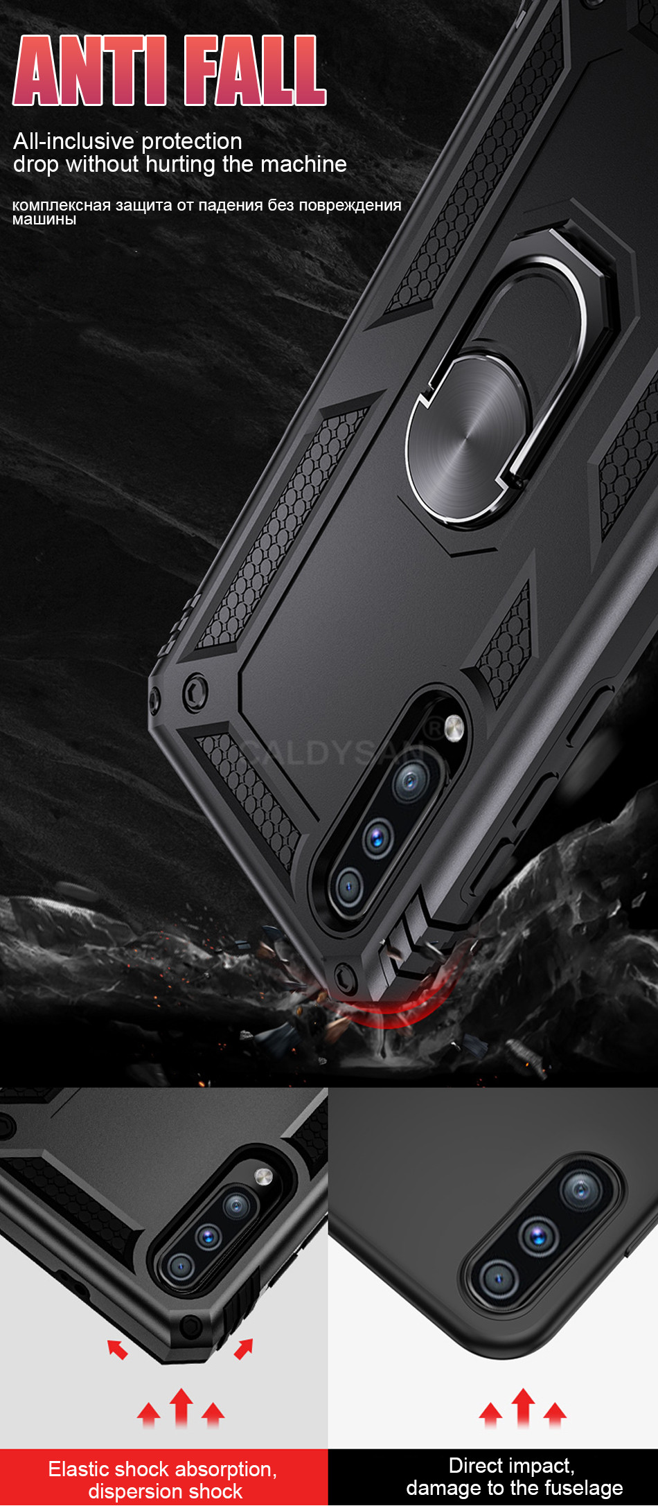 HTB1ZLGJbkxz61VjSZFrq6xeLFXao - Luxury Armor Shockproof Case For Samsung Galaxy A50 A30 A51 A71 S20 Ultra S9 S10 S8 Note 8 9 10 Plus Car Holder Ring Case Cover