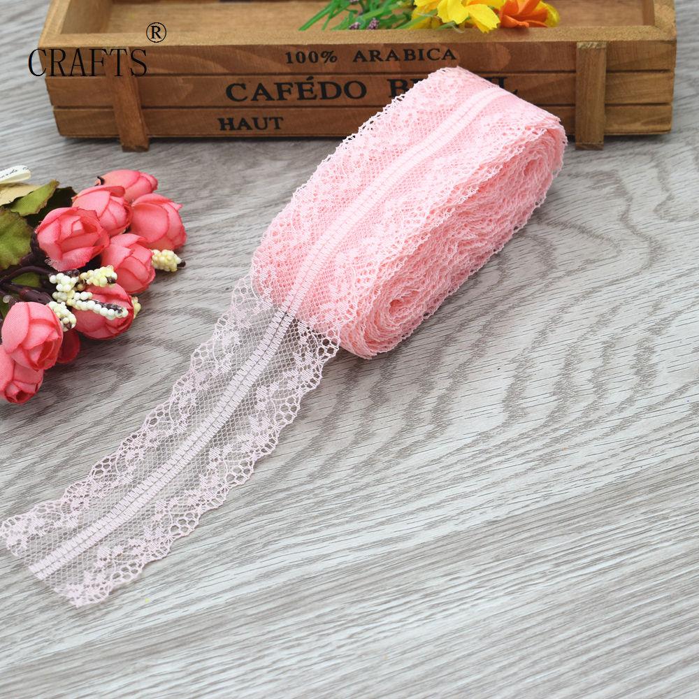 HTB1ZLGKiKGSBuNjSspbq6AiipXaD New! 10 yards beautiful lace ribbon, 3.8 cm wide, DIY decoration accessories, holiday decorations
