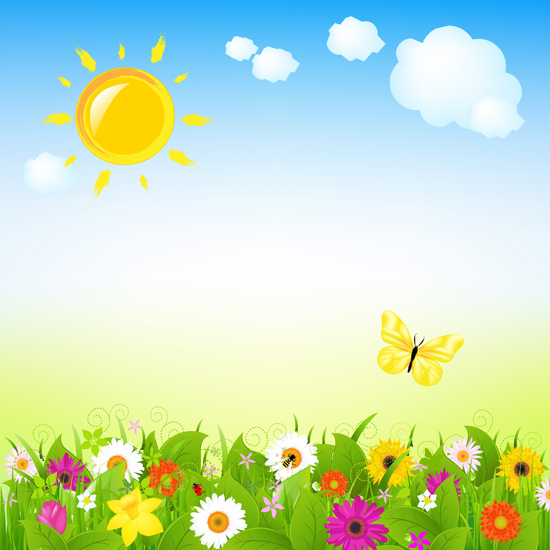 Cartoon spring photography backdrops for Easter theme