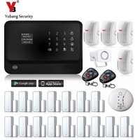 2 4G Wireless Home Security System Wifi GSM Alarm System G90B Smoke Detector 433 PIR Magnetic