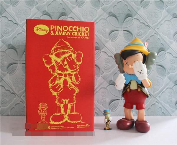 12inch Original Fake KAWS Pinocchio Puppet Standing Type With Retail box medicom toy kaws Factory Samples Fashion Toys стоимость