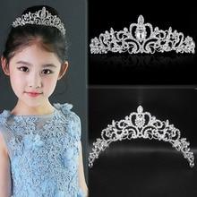 Женская корона принцессы ободок, хрустальные стразы, тиара и короны, ободок для волос, ювелирные изделия, серебряные свадебные аксессуары для волос