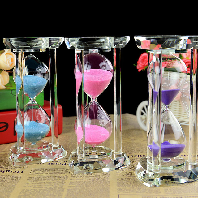 Home Decorations Crystal 30 Minutes Hourglass Craft 3 Color Wedding ...