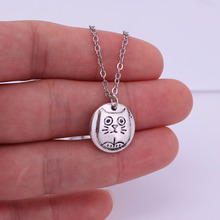цена на hzew tiny silly cat pendant necklace kitty necklaces cat lover gift