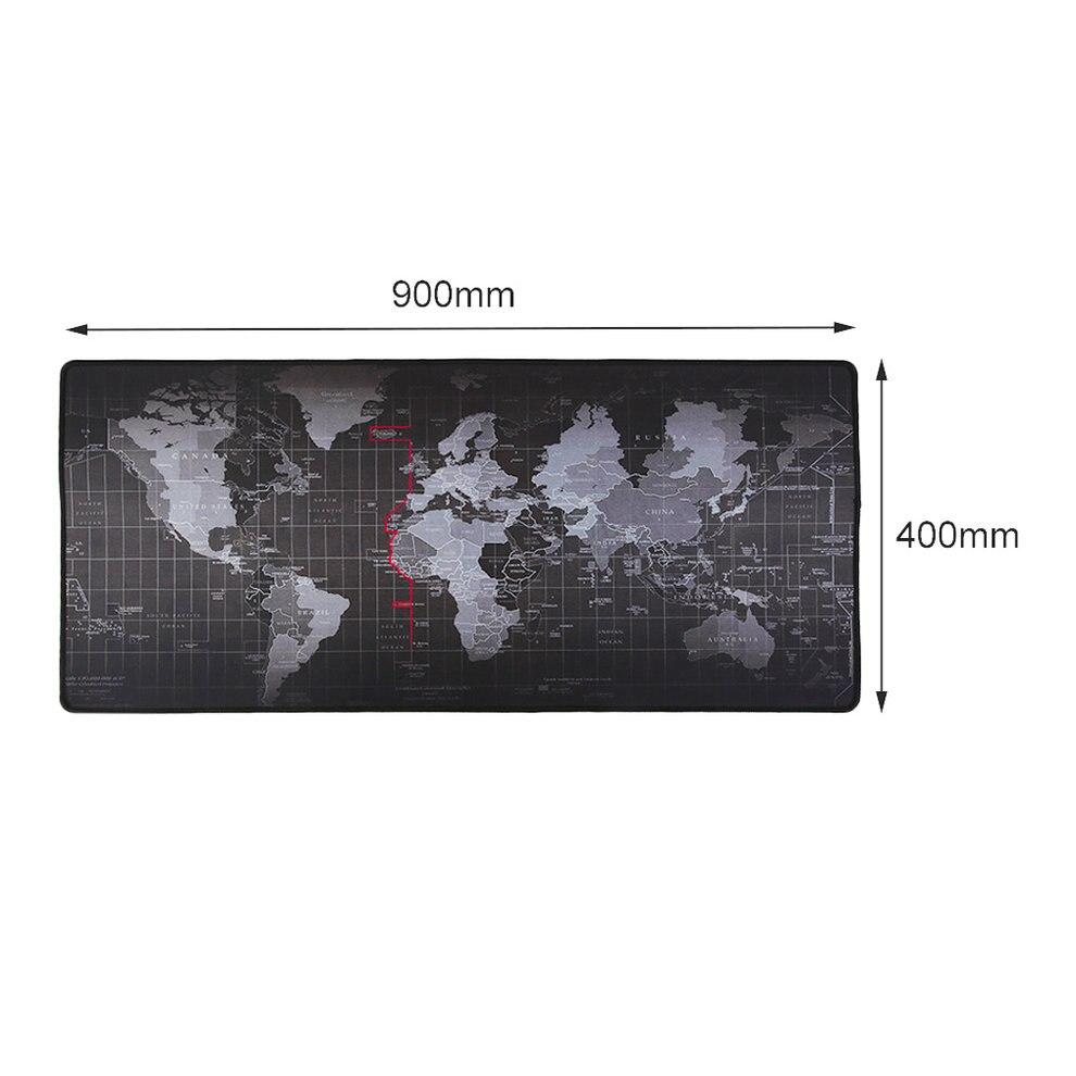5 pièces 400x900x2mm étendu Super grande carte du monde clavier tapis de souris anti-dérapant tapis de souris