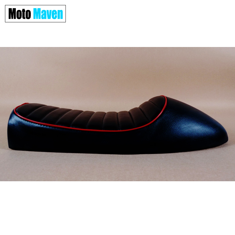 2016 BRAND NEW Black Red Striped CG125 GN125 Cafe Racer Seats CB 250 550 750 CAFE RACER CUSHION SADDLE - MOTOMAVEN Industry and Trade Co.,Ltd store