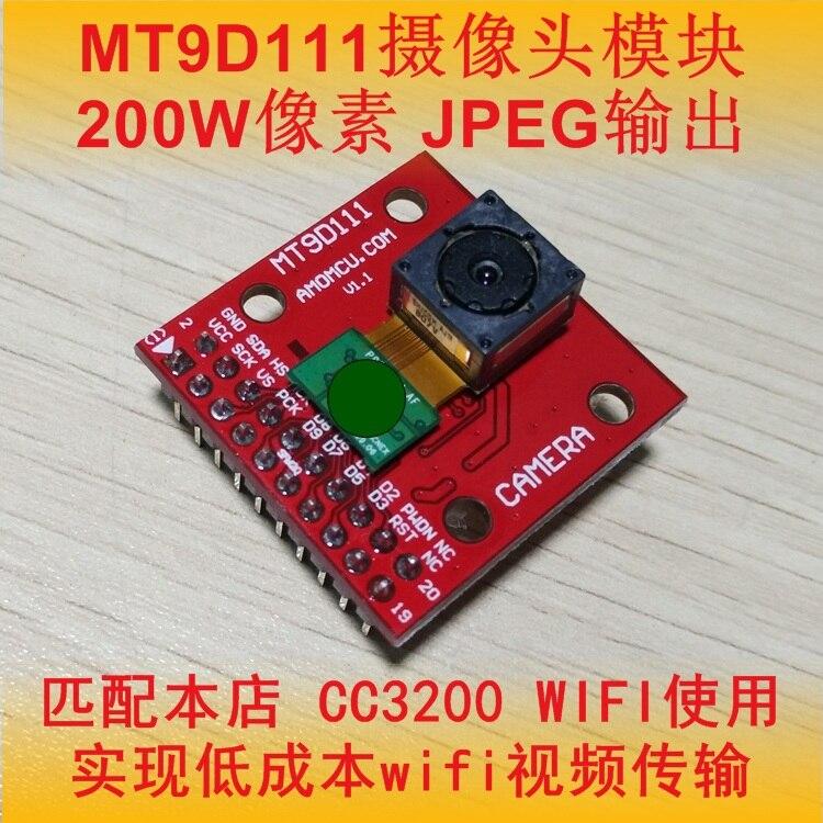 Placa de Desenvolvimento Transmissão de Vídeo Câmera Módulo Apoiando Mt9d111 Cc3200
