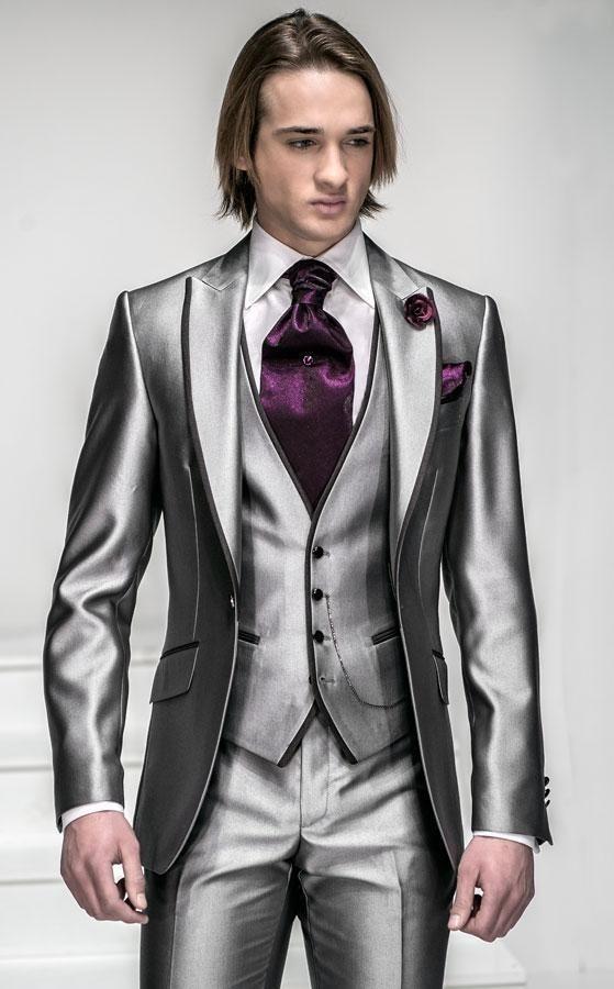 5dac71bf1c5cd Ivory wedding best man is fit for thin body of men suit 2016 three piece  suit lapel groom dress (coat + pants + vest