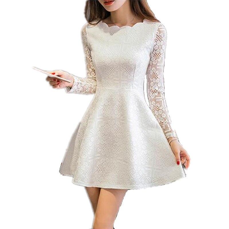 Primavera verano otoño mujer de encaje casual dress vestidos de fiesta vestido d