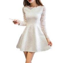 Spring Summer Autumn Women Lace Casual font b Dress b font Long Sleeve Korean font b