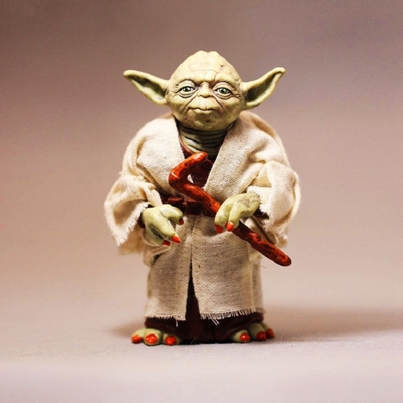 13cm Star War Yoda PVC Action Figure Model Toy Anime Force Awakens Jedi Master Character Collection Brinquedo Children Juguetes star wars jedi knight master yoda pvc action figure collectible model toy doll gift 12cm kt2029