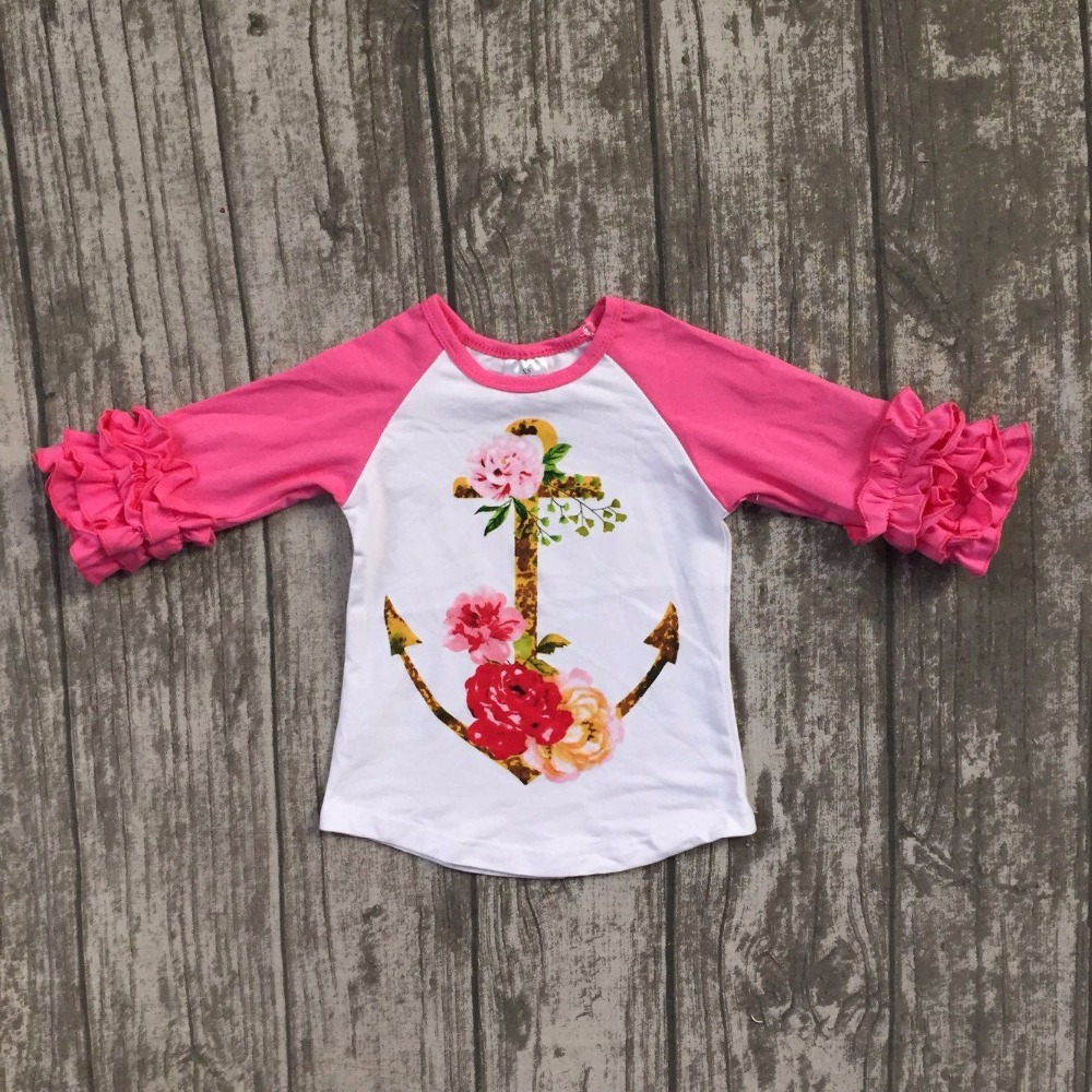 baby girls Fall boutique clothing girls anchor floral