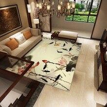 3D Carpet for Living Room Rug Minimalist flower bird Chinese style Mat sofa large carpet study bedroom bedside table blanket