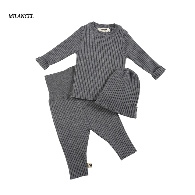 ab0a0446d MILANCEL Baby Clothing Set Knit Baby Girls Clothes Toddler Boys ...