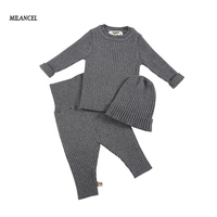 MILANCEL Baby Clothing Set Knit Baby Girls Clothes Toddler Boys Clothes Hat Sweater and Pants Baby Set Kids Boutique Clothes