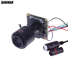 GADINAN High Qulity POE IP Camera Board DIY H.265 1080P 2.8-12mm Manual Varifocal Zoom Lens Security Network with P2P onvif