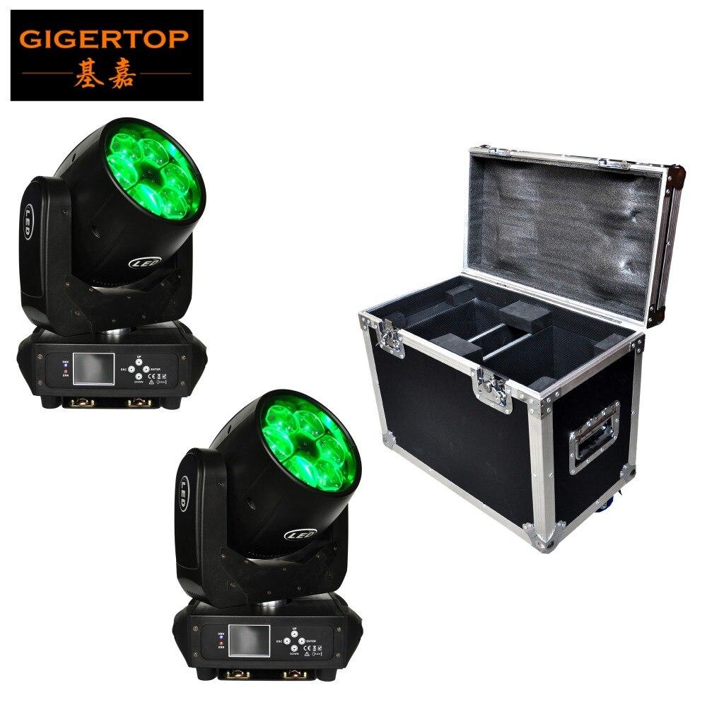 TIPTOP стекируемые 2in1 кофр Pack 6x40 Вт Osram RGBW мини Перемещение головного B глаз свет DMX10/ 17 Каналы зум Функция CE ROHS