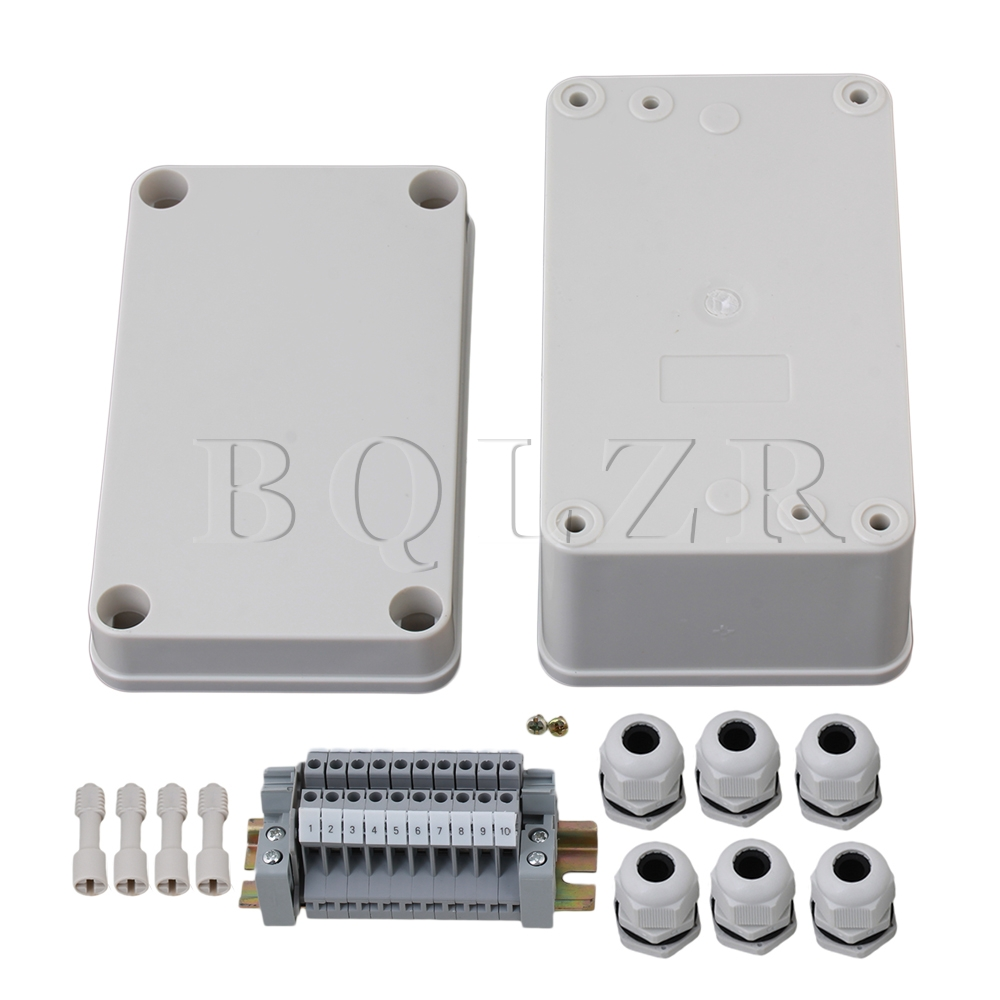 BQLZR 130x80x70mm Waterproof Square Junction Electric Box 10 Position Terminal  цены