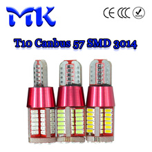 10X New Car LED Light T10 Canbus 57 SMD 3014 LED W5W no error 57SMD Error Free 194 168 parking Light red yellow ice blue 12V