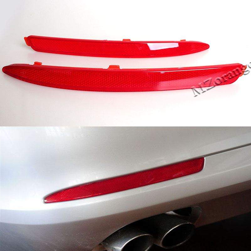 Rear Bumper Lights For Skoda Octavia 2010 2011 2012 2013 2014 <font><b>Bar</b></font> Reflector Lamp Signal <font><b>LED</b></font> 2 Pcs <font><b>30</b></font> by 2.2cm Left and Right image