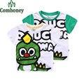Verano de Los Muchachos Camisetas Dinosaurio de Algodón Deportes Camiseta de Manga Corta Casual Todder Bebés Niños Tops Tees Summer Ropa de Niños