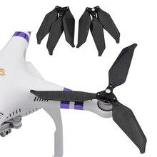 3 Leaf 9455S karbon Fiber pervane DJI Phantom 3 için düşük gürültü sahne katlanır pervane Phantom 2 Drone gürültü azaltma bıçak