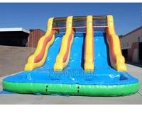 Customizable giant slide inflatable water slide pool slide on sale