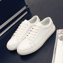 Nice New PU Leather Fashion Casual Shoes Unisex lace-up Mens Shoes Lovers Casual Chaussure Homme Mens Trainers