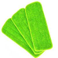 3 piezas Reveal almohadilla de repuesto para cabezal de mopa limpieza mopa almohadilla para todas las trapeadores en aerosol y Reveal trapeador lavable 40x12cm