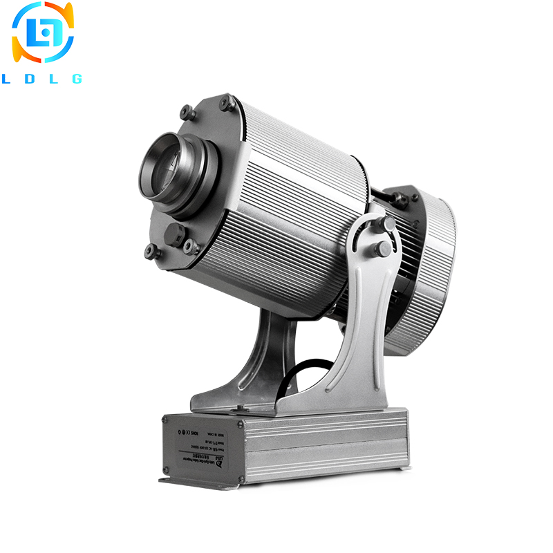 Waterproof Advertising Silver 40W Rotary Image LED Gobo Projector Rustproof 4500lm LED Company Logo Gobo Image Projection Light company logo advertising silver 20w led rotating image gobo projector 110v 220v 1700lm indoor outdoor led custom gobo projector