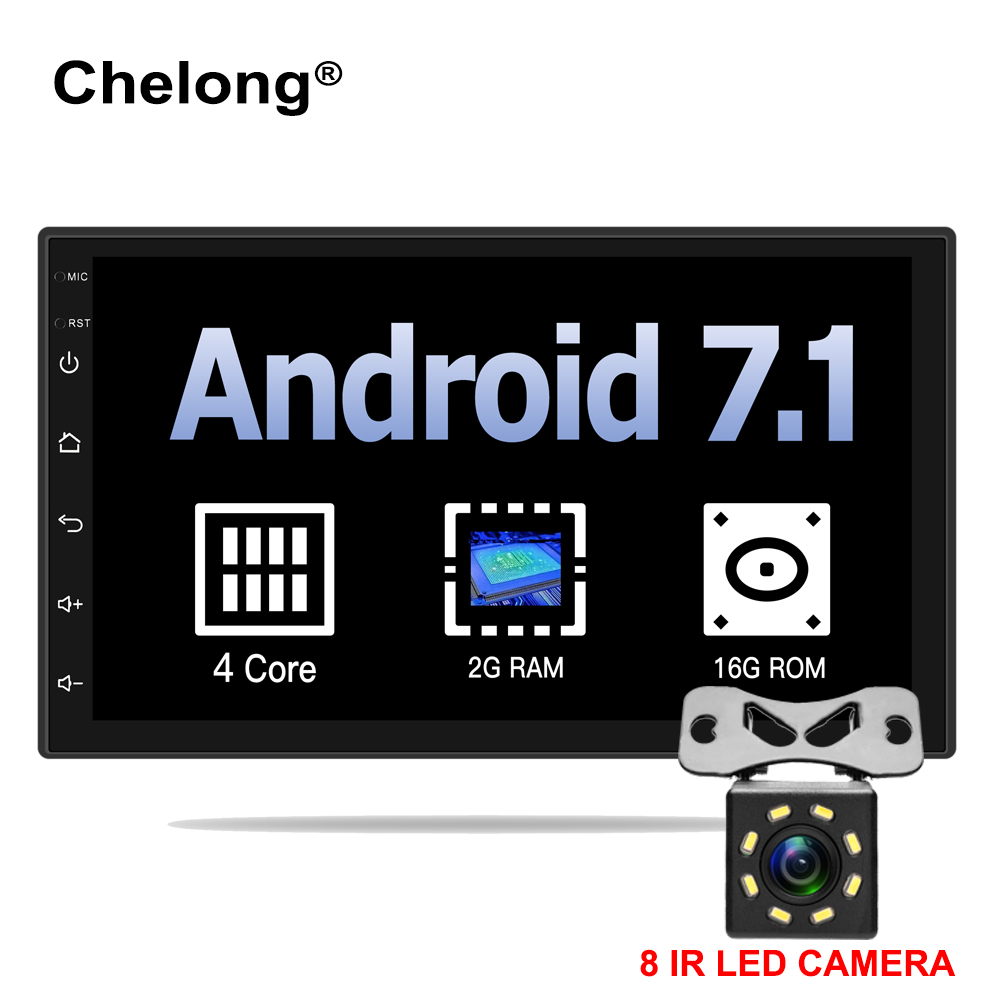 Android 7.1 universal Car Radio 7 2 din car radio gps android 2 din Car DVD Player GPS NAVIGATION WIFI Bluetooth MP5 Player