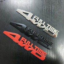 Metal 3D Car Styling 4WD Full Time Chrome Emblem Badge Truck Auto Gule Sticker Decal Accessories for Jeep Toyota Ford VW Subaru