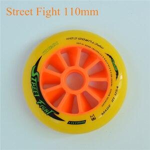 Image 4 - Street Fight Oranje 110mm 100mm 90mm Inline Speed Skates Wiel voor MPC Asfalt Grond Street Racing Marathon concurrentie Rodas