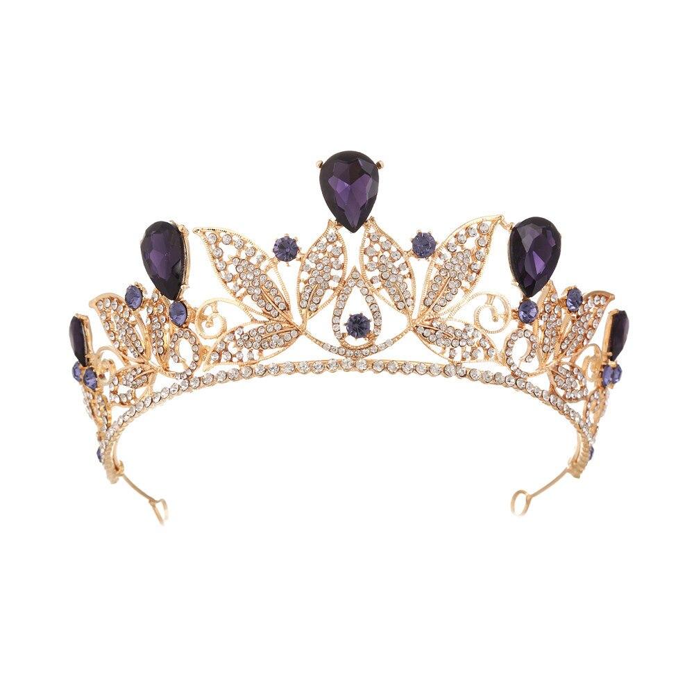 Baroque Princess Crystal Women Wedding Crowns Tiaras Princess Queen Diadem Bride Luxurious Headbands Events Hair Accessories