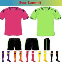 ac385b94a Ever Summit Soccer Jerseys 2018 Football Shirts Training Sets AC Blank  Version Woman Kids Adult Pogba DIY Jersey de Futbol Socks