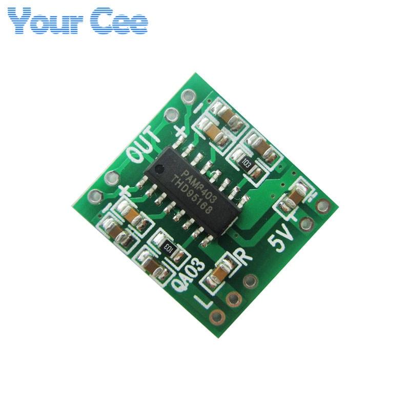 2 pcs PAM8403 Module Super Mini Digital Amplifier Board 2 * 3W Class D 2.5V to 5V USB Power Supply