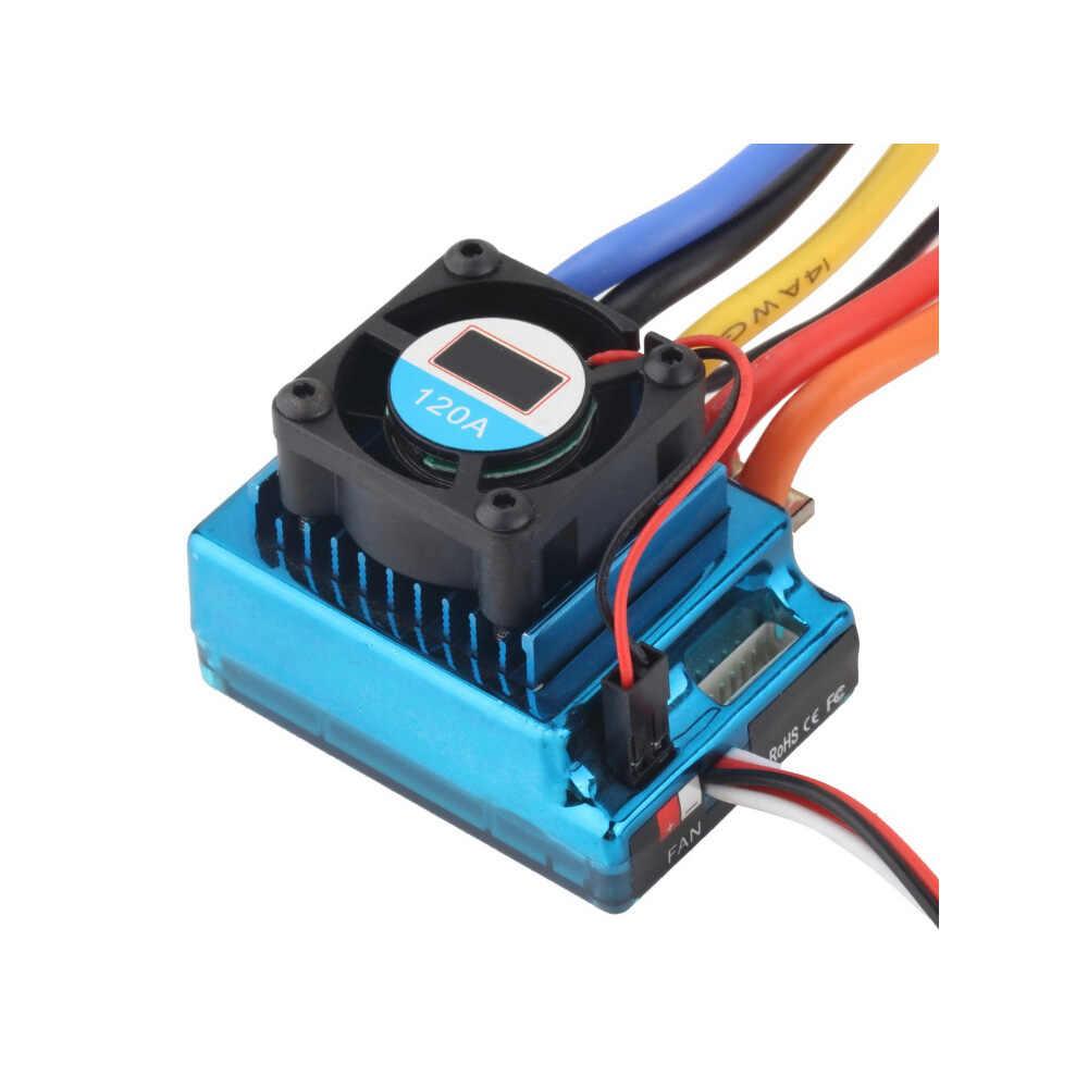 Nuevo 120A Sensored ESC sin escobillas controlador de velocidad T enchufe para 1/8 de 1/10 1/12 coche RC Crawler venta al por mayor
