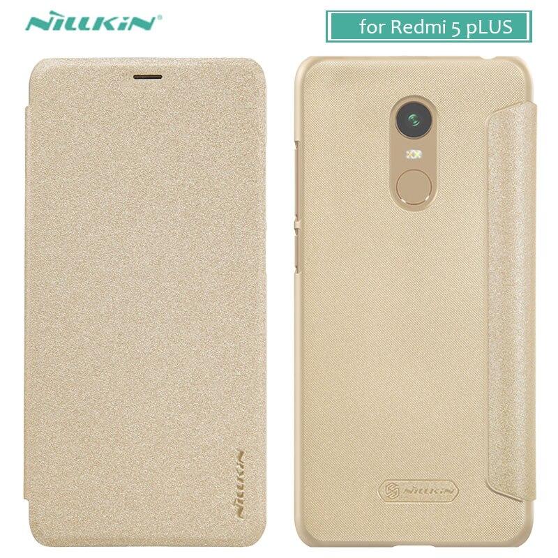 Pour Xiaomi Redmi 5 Plus Cas NILLKIN Étincelle De Luxe Flip En Cuir cas de Couverture Arrière Cas de Téléphone pour Xiaomi Redmi 5 Plus Flip couverture