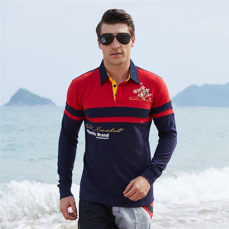 ZOGAA Mens Fashion Polo Shirt Contrast Color Block Polo Shirts Long Sleeve Casual Printed Shirt For Men Clothing 2019 Polos