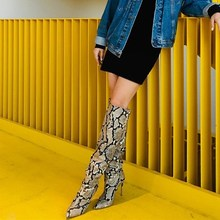 3bbdb164bec Buy snake print over the knee boots and get free shipping on ...