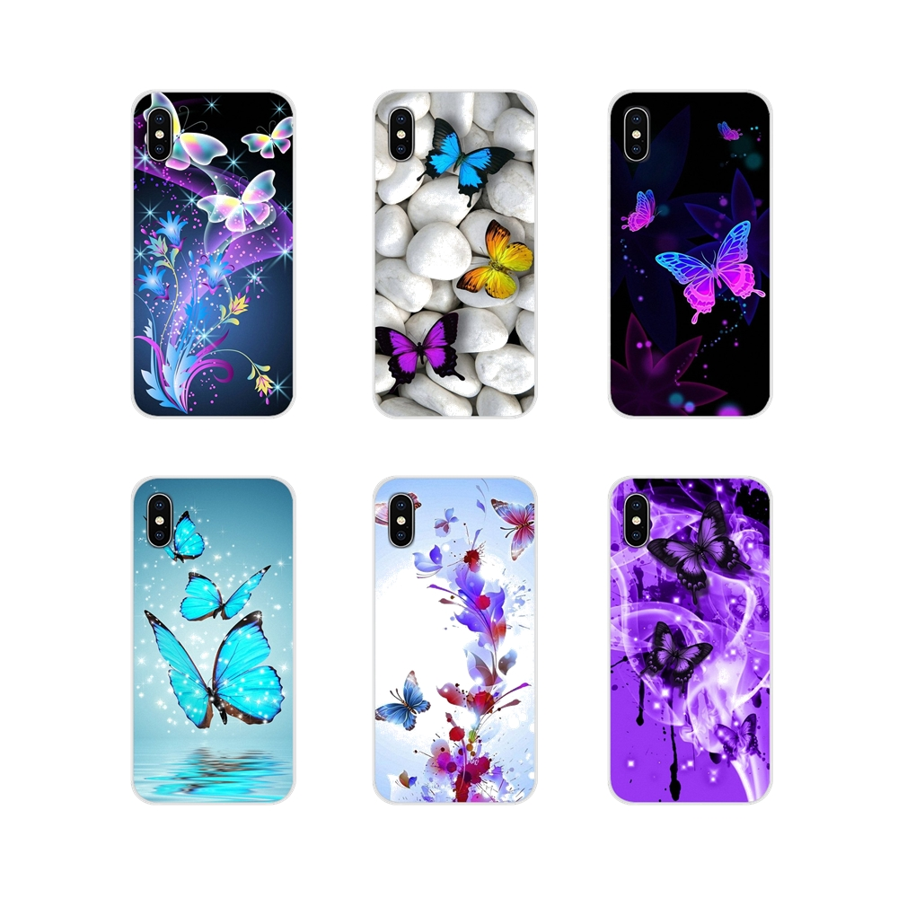 Us 099 Colorful Butterfly Wallpaper Soft Transparent Case For Lg G3 G4 Mini G5 G6 G7 Q6 Q7 Q8 Q9 V10 V20 V30 X Power 2 3 K10 K4 K8 2017 In
